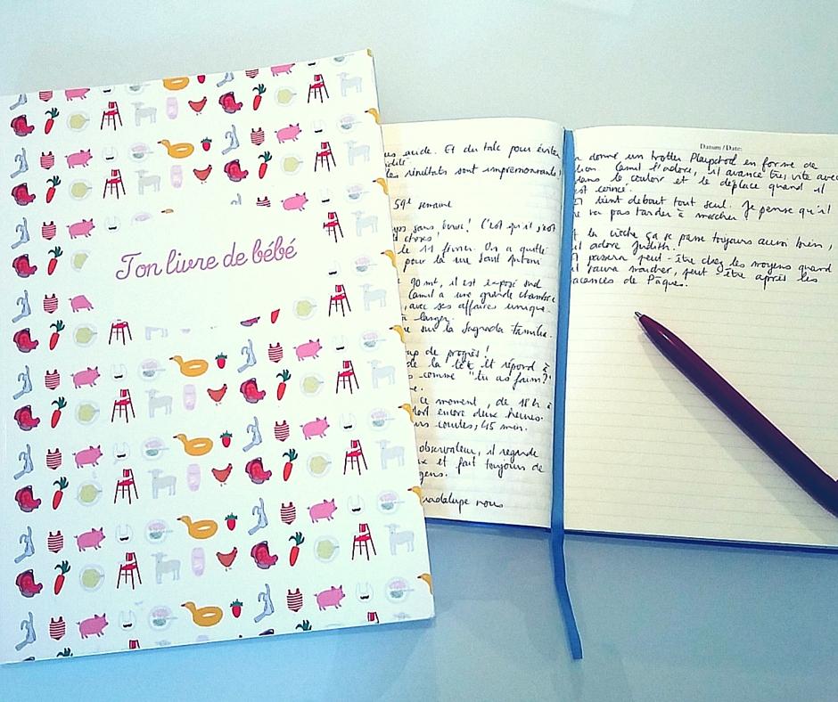 Livre de bébé et carnet de bord : mes souvenirs par écrit